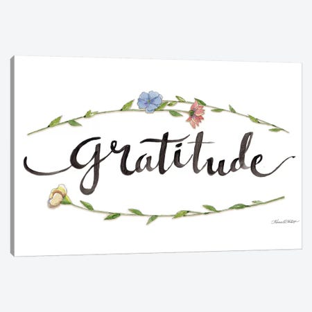 Gratitude Canvas Print #KTR6} by Karen Tribett Canvas Art