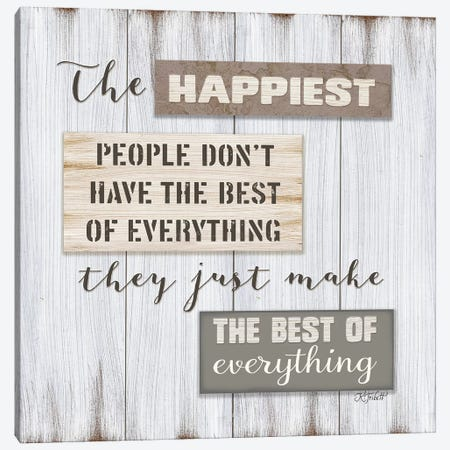 Happiest People    Canvas Print #KTR7} by Karen Tribett Canvas Art