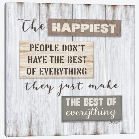 Happiest People    Canvas Print #KTR7} by Karen Tribett Canvas Art