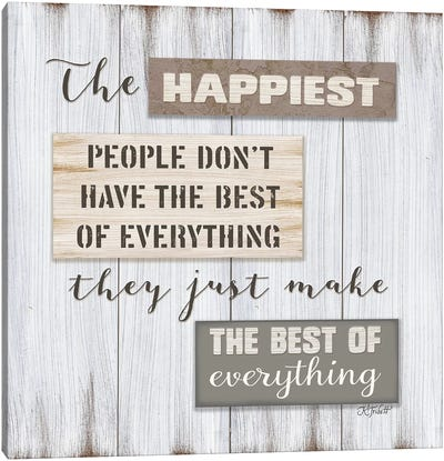 Happiest People    Canvas Art Print