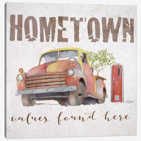 Hometown Values Found Here Canvas Print #KTR8} by Karen Tribett Canvas Art Print