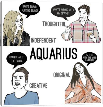 Bravostrology- Aquarius Canvas Art Print