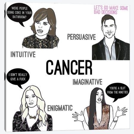 Bravostrology- Cancer Canvas Print #KTS27} by Kats Illustration Canvas Wall Art