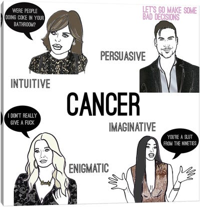 Bravostrology- Cancer Canvas Art Print
