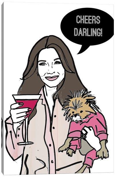 Cheers Darling! Canvas Art Print