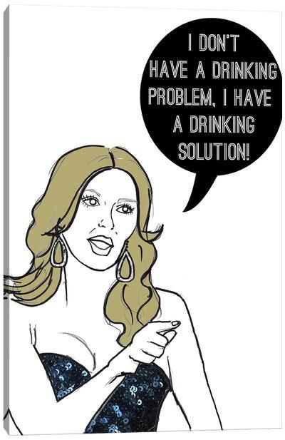 Drinking Solution Canvas Art Print