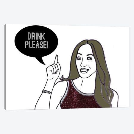 Drink Please! Canvas Print #KTS35} by Kats Illustration Canvas Art Print