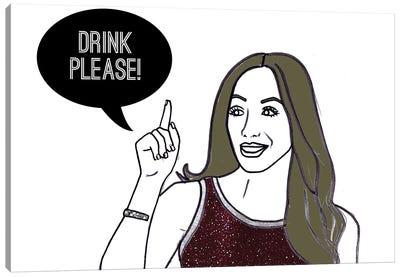 Drink Please! Canvas Art Print