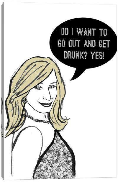 Drunk Canvas Art Print