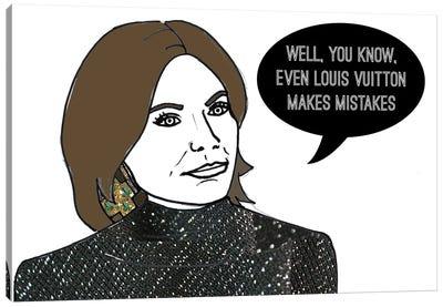 Even Louis Makes Mistakes Canvas Art Print
