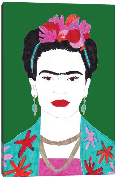 Flowers And Frida Canvas Art Print