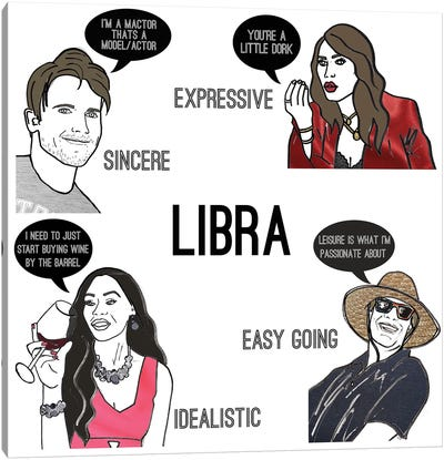 Bravostrology- Libra Canvas Art Print