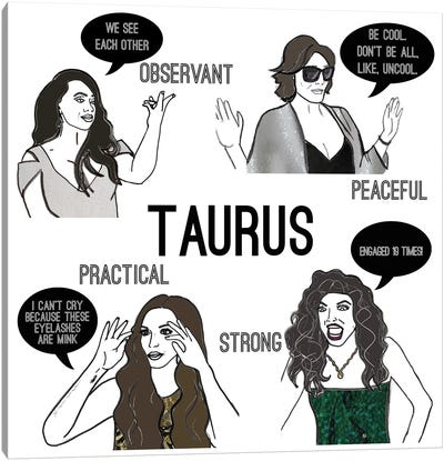 Bravostrology- Taurus Canvas Art Print