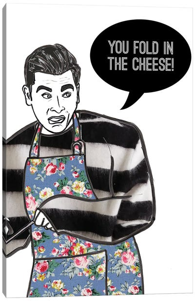 Fold In The Cheese Canvas Art Print