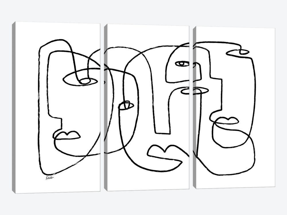Bewildered by Koketit 3-piece Canvas Wall Art