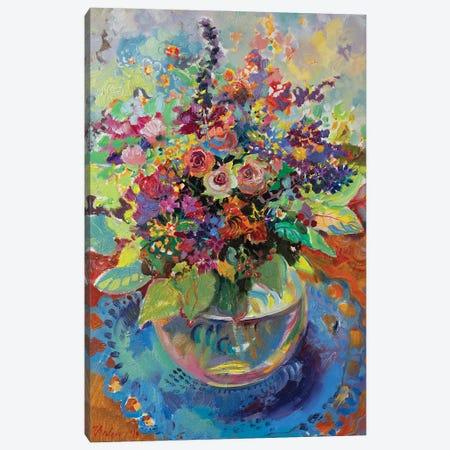 Summer Bouquet -August Canvas Print #KTV100} by Katharina Valeeva Canvas Artwork