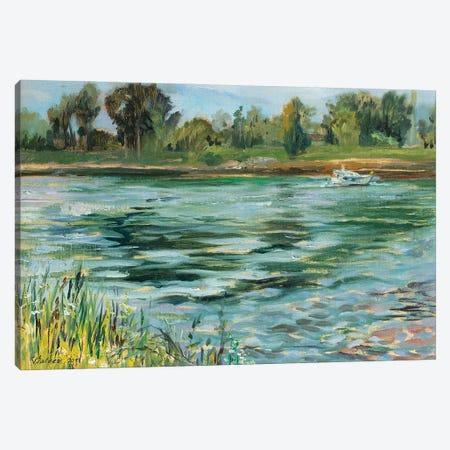 Summer On The Rhine Canvas Print #KTV104} by Katharina Valeeva Canvas Print