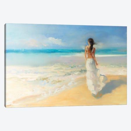 Sunny Beach Canvas Print #KTV106} by Katharina Valeeva Canvas Print