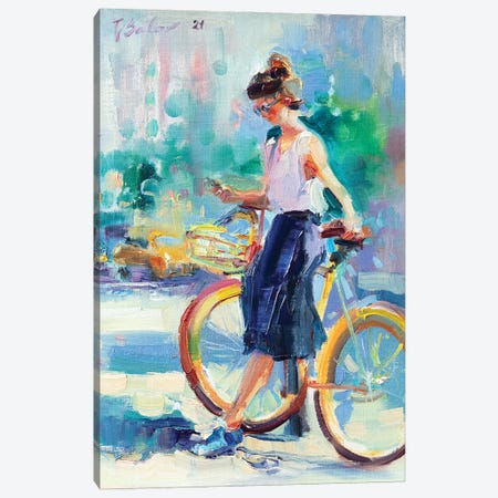 Sunny Day In The City Canvas Print #KTV107} by Katharina Valeeva Canvas Print