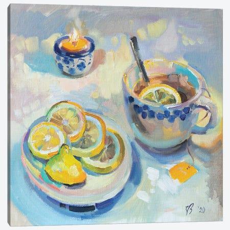 Tea With Lemon Canvas Print #KTV110} by Katharina Valeeva Canvas Art Print