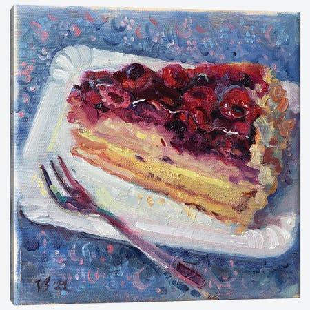 Blackberry Cake Canvas Print #KTV13} by Katharina Valeeva Canvas Art Print