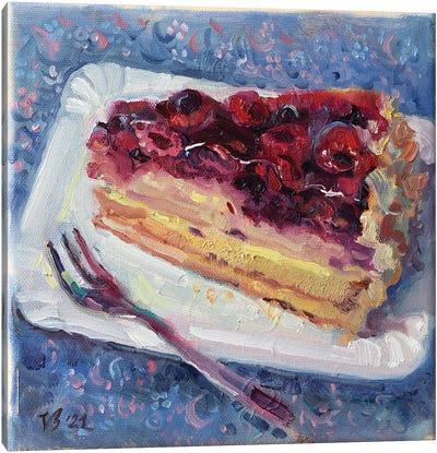 Blackberry Cake Canvas Art Print