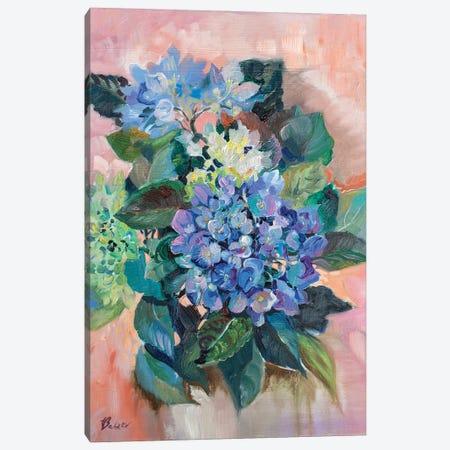 Blue Hydrangea Canvas Print #KTV15} by Katharina Valeeva Canvas Artwork