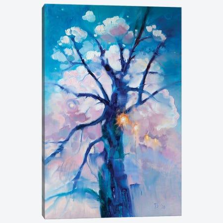 Blue Tree Canvas Print #KTV16} by Katharina Valeeva Canvas Artwork