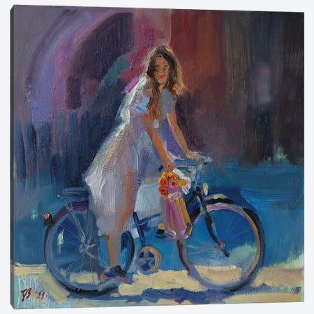 Bought Flowers Canvas Print #KTV17} by Katharina Valeeva Canvas Wall Art