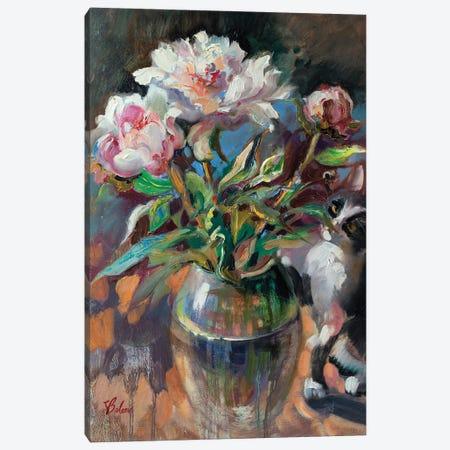 Bouquet Of Pink Peonies Canvas Print #KTV19} by Katharina Valeeva Canvas Art Print