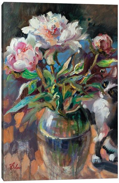 Bouquet Of Pink Peonies Canvas Art Print