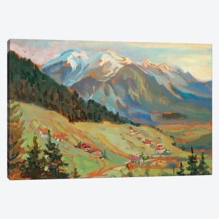 Alpine Village View Canvas Print #KTV1} by Katharina Valeeva Art Print