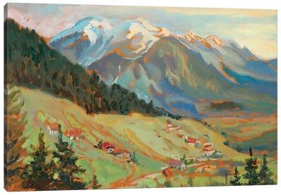 Alpine Village View Canvas Art Print