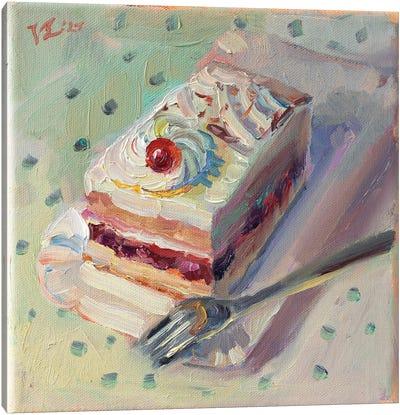 Cherry On The Cake Canvas Art Print
