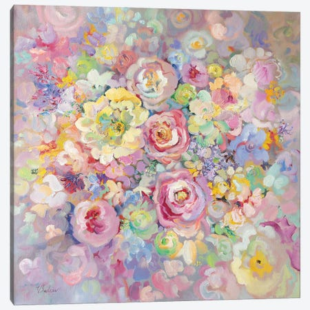Delicate Flowers Canvas Print #KTV26} by Katharina Valeeva Art Print