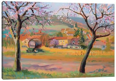 April In Edenkoben Canvas Art Print