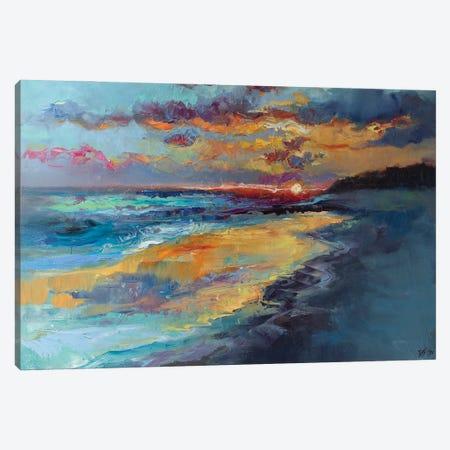 Dusk On The Coast Canvas Print #KTV30} by Katharina Valeeva Art Print