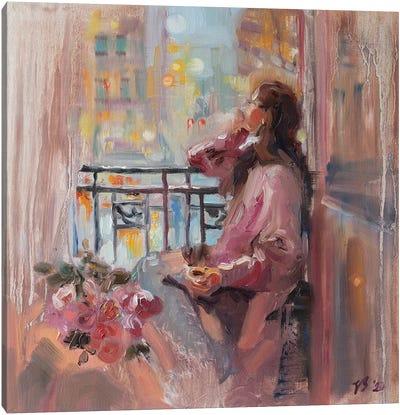 Evening Of Roses Canvas Art Print