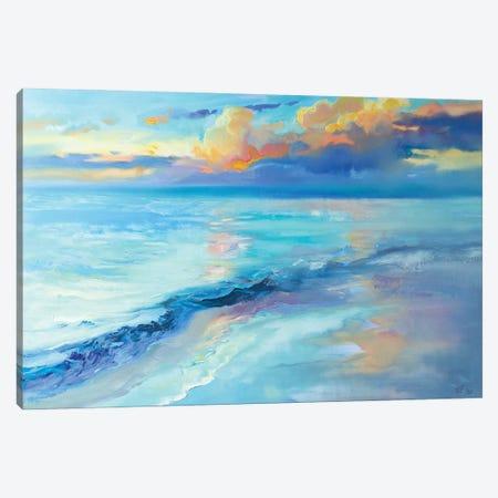 Evening Sky Over The Sea Canvas Print #KTV33} by Katharina Valeeva Art Print