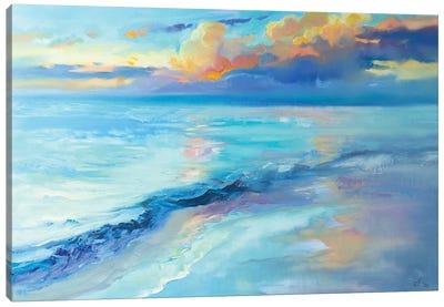 Evening Sky Over The Sea Canvas Art Print