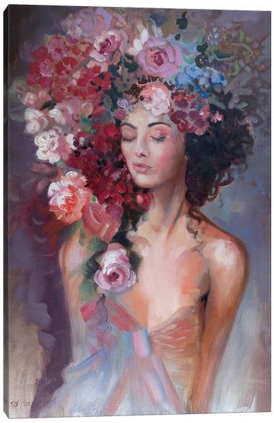 Flower Nymph Canvas Art Print