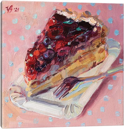Forest Berry Cake Canvas Art Print