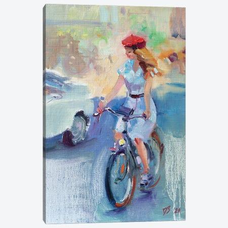 Girl In A Red Beret Canvas Print #KTV43} by Katharina Valeeva Canvas Wall Art