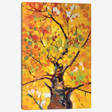 Golden Tree Canvas Print #KTV51} by Katharina Valeeva Art Print