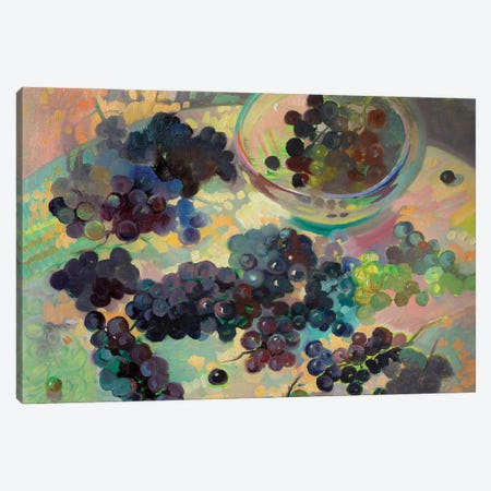 Grapes Canvas Print #KTV52} by Katharina Valeeva Art Print