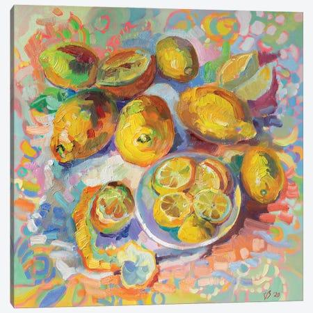 Lemons Canvas Print #KTV56} by Katharina Valeeva Canvas Wall Art