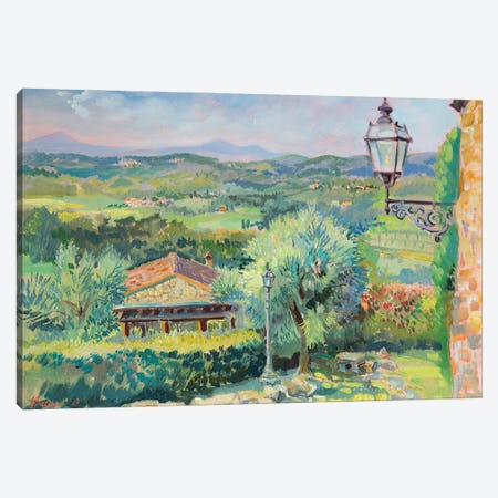Morning In Tuscany Canvas Print #KTV61} by Katharina Valeeva Canvas Wall Art