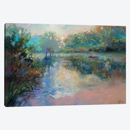 Morning On The Lake Canvas Print #KTV62} by Katharina Valeeva Canvas Artwork