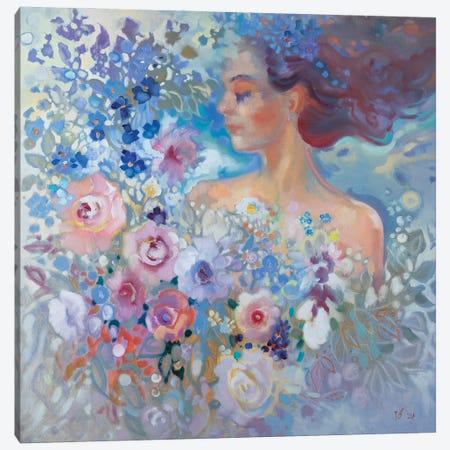 Nymph Of Roses Canvas Print #KTV67} by Katharina Valeeva Canvas Art Print
