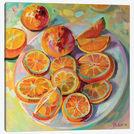 Oranges Canvas Print #KTV69} by Katharina Valeeva Canvas Artwork